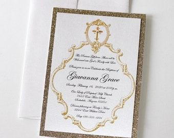 vintage baptism invitations christening invitations etsy