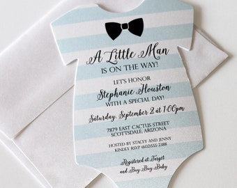 onesie invitation etsy