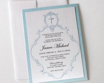 vintage baptism invitations christening invitations white etsy