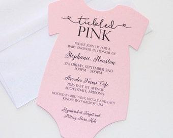 Attractive Baby Shower Onesie Invitation ...