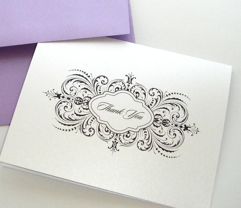 Wedding Thank you cards Wedding Gift 25 Pack Wedding stationery Thalia style Thank you cards