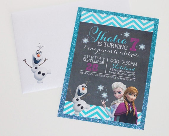 Frozen Birthday Party Invitations Frozen Invitation Etsy