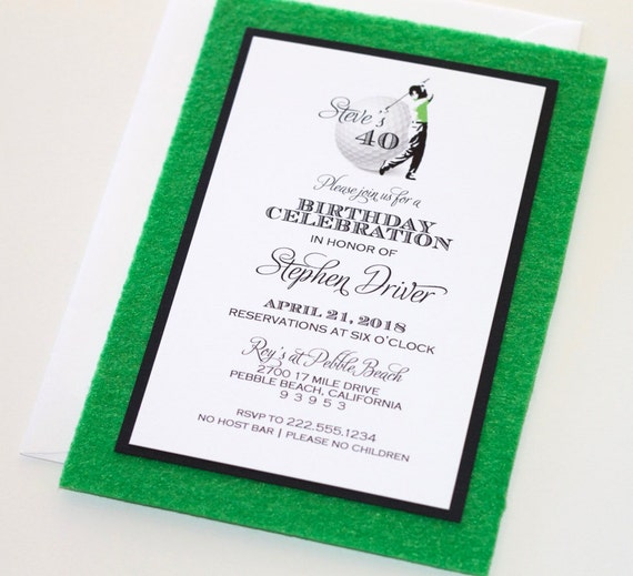 Golf Invitation Golf Party Invite Golf Save The Date Etsy