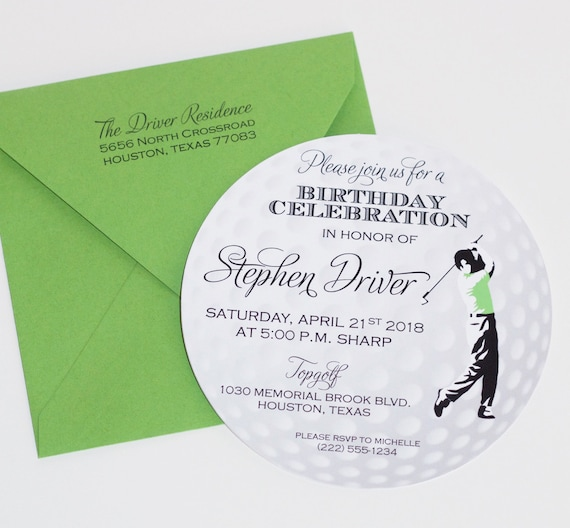 Golf Ball Invitation Golf Invitation Golf Themed Party Etsy