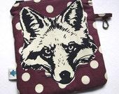 Fox Bag, Squirrel Bag, Pencil Case, School Supplies, Zipper Pouch, Keychain Holder, Zipper Case, Planner Pens, Graphic Print, Forest Animals