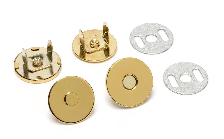 500 ensembles sac à main magnétiques minces Snaps - 18mm fermetures 18mm - Gold - livraison gratuite (aimant SNAP MAG-126) d9a61f