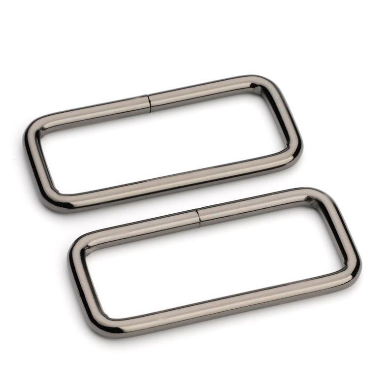 2 Metal Square Ring SQUARE RING SRG-135 Black Nickel