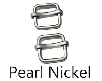 """5/8"""" Adjustable Slide Buckle - """"PEARL"""" Nickel - Matte Finish - (Slide Buckle SBK-302)"""