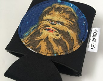Chewbacca Can Cooler - Chewbacca Birthday Gift - Vintage Star Wars Gift - Star Wars Can Cozy