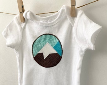 Mountain Bodysuit - Mountain Baby Gift - Mountain Mama - Colorado Baby Gift - Unisex Baby Gift - Available in 6m, 9m and 12m