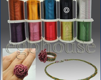 COLORED CRAFT WIRE - 26 gauge 18meters - 10 colors available for choice - free shipping