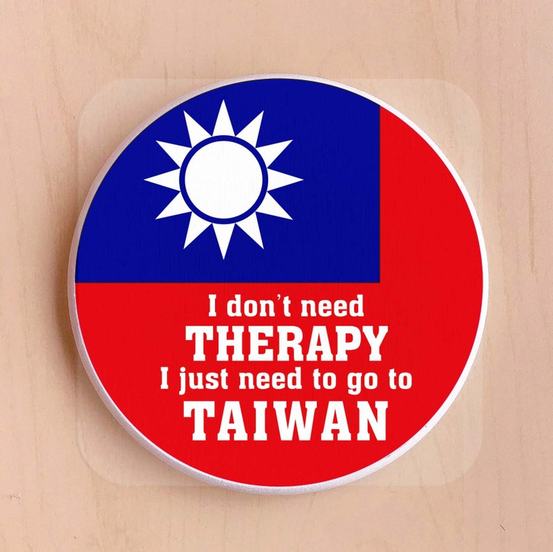 11 cm 4 pcs a set Taiwan gift Taiwan coaster Dia