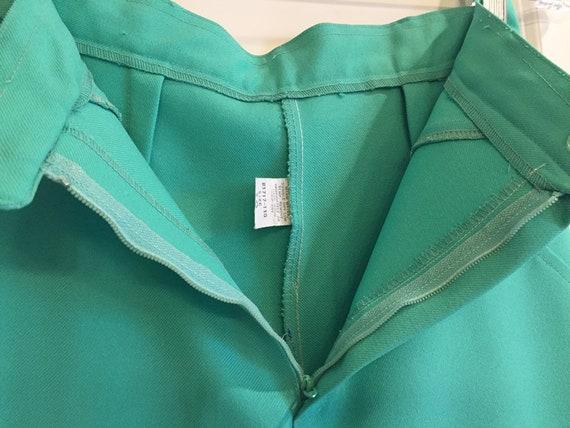 Vintage 1970s Seafoam Green Double Knit Pants - image 7