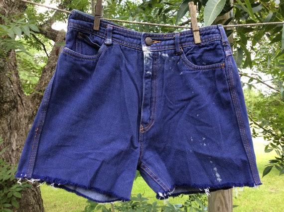 Vintage N EST CE PAS 70's Denim Cut Off Shorts