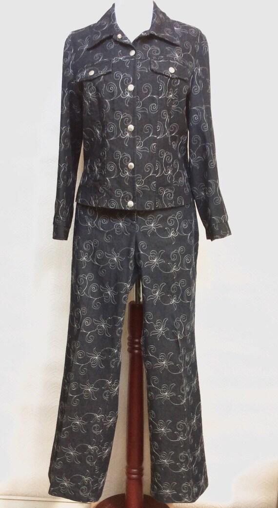 Vintage Denim Jacket and Jeans Set