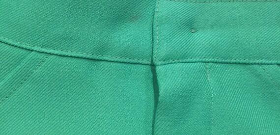 Vintage 1970s Seafoam Green Double Knit Pants - image 8