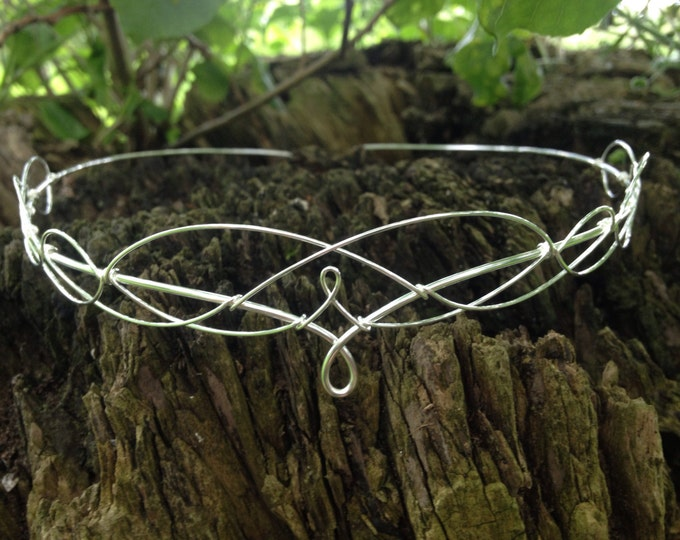 Elven Circlet Medieval Tiara Headband Bridal Prom Headpiece