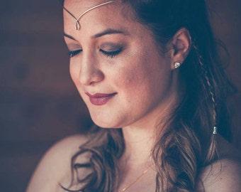 Silver Plated Circlet Tiara Medieval Renaissance Celtic Headband Bridal Prom Headpiece