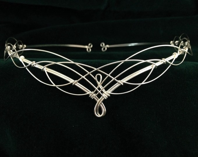 Circlet Headpiece Elven Wedding Tiara Crown Medieval Costume