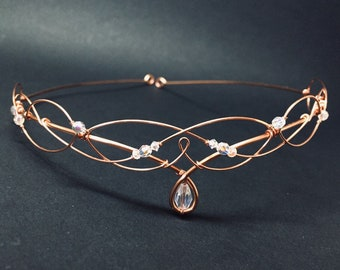 Rose Gold Circlet Tiaras