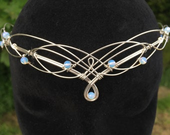 Circlet Headpiece Elven Tiara Diadem Medieval Crown Renaissance Pagan Wedding Handfasting