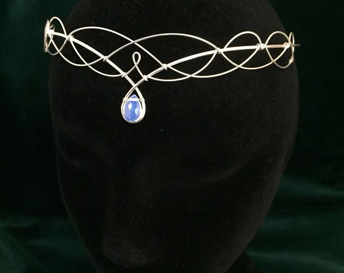 Moonstone Headpiece Even Circlet Medieval Wedding Boho Bridal Tiara