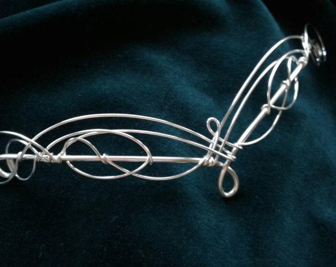 Back Hair Decoration Elven Headpiece Medieval Bridal Hair Celtic Hairvine