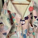 Custom Listing for Lori/6X Vintage Quilt Jacket/ Splash Painted Embellished Peace Sign Tee, Shirt Scrunchie/ Vintage Hobnail Bedspread Tunic