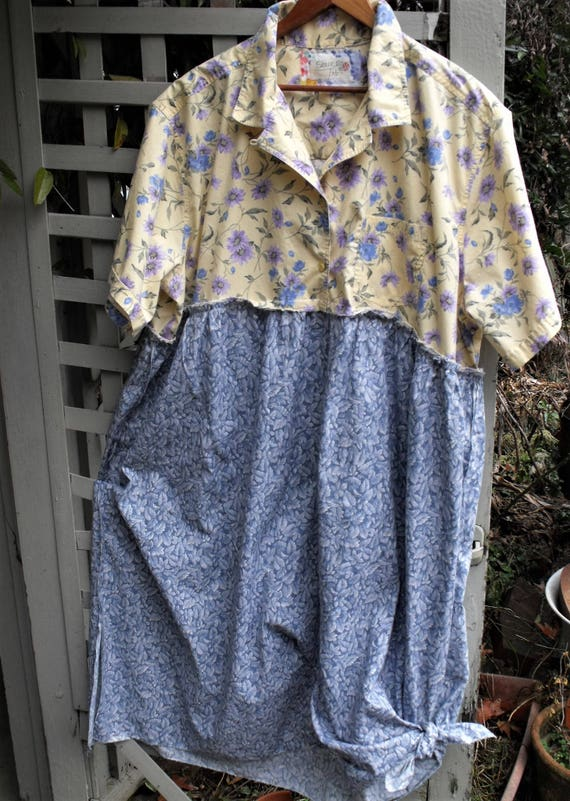 Funky Frock 4 5x Dress Upcycled Plus Size Easter 2018 Etsy