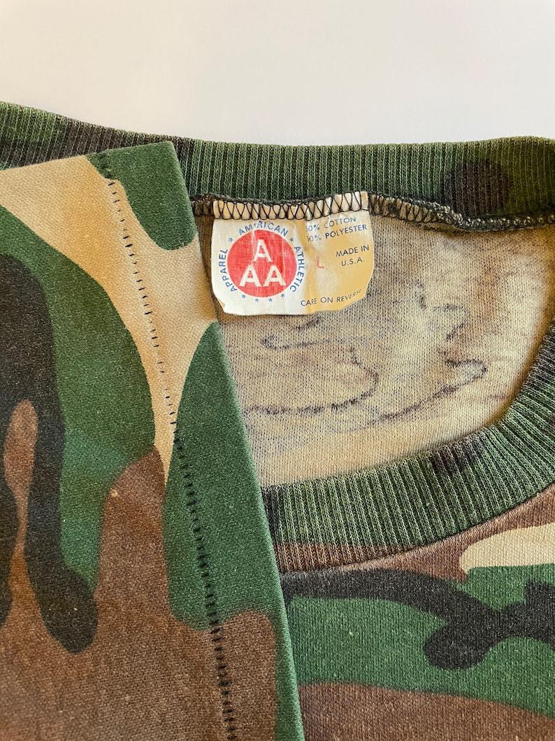 Vintage 80s Seagram\u2019s Canadian Hunter Whisky  Camo Single Stitch Shirt