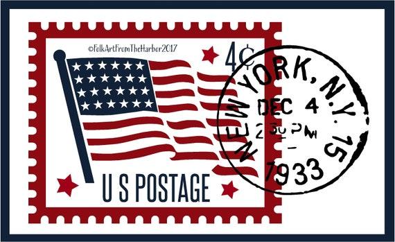 Postage Stamp Reusable Mylar Stencil Art Supplies