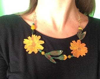 Calendula necklace