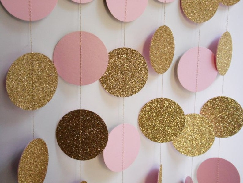 050bd1363f99 Gold and Light Pink Party Decoration Bridal Shower Decor