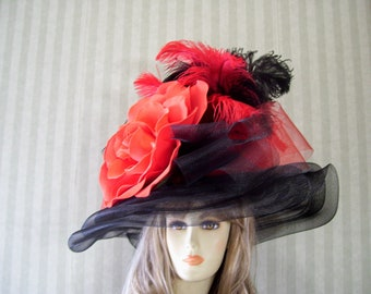 9ef2c8c6d45c7 Beautiful Kentucky Derby Hats and Fascinators by MsPurdy on Etsy