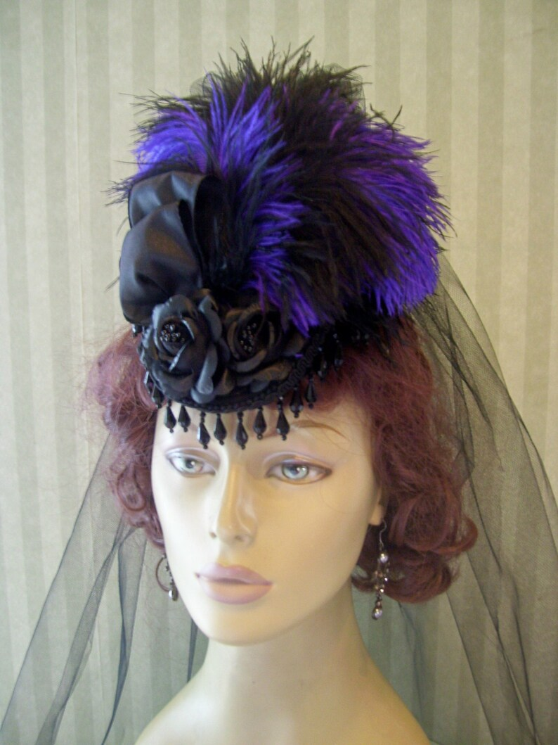 Victorian Hat History | Bonnets, Hats, Caps 1830-1890s Victorian Hat 1800s hat Mini Riding Hat Halloween Mini Hat $49.95 AT vintagedancer.com