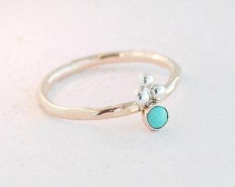 turquoise ring. gold ring. boho ring. minimalist turquoise ring. alternative modern engagement ring. 14k gold filled. art deco style ring.