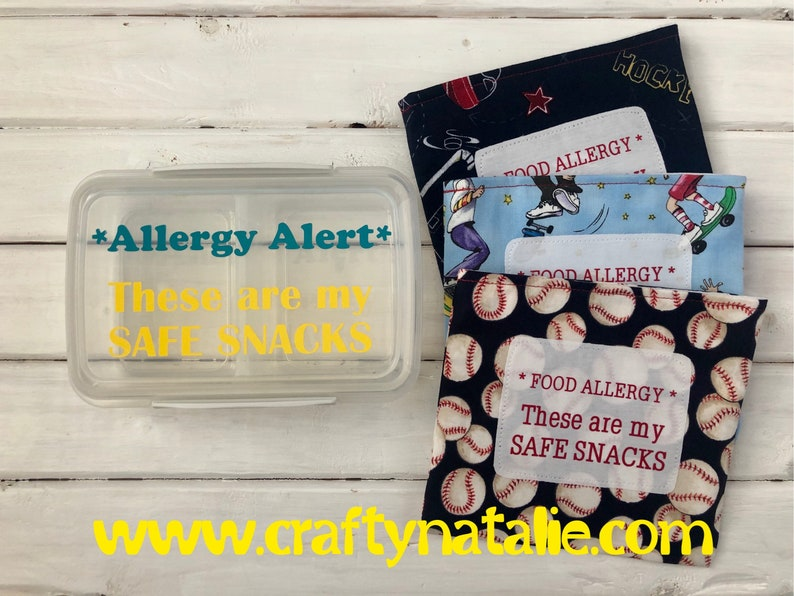 Safe Snack Bundle Food Allergy Alert Snack Container and image 0