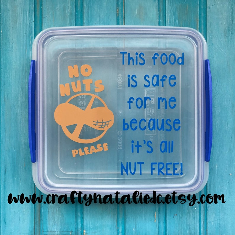 Food Allergy Alert Lunch Container No Nuts Lunch Sandwich image 0