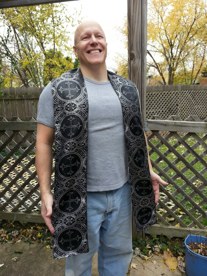 Brocade Priest Stole for Costuming/LARP/Roleplay image 0