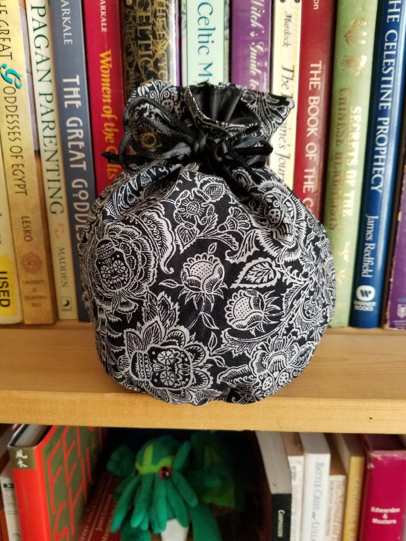 My Pretty Dice Bag  Monochrome Sugar Skulls Edition image 0