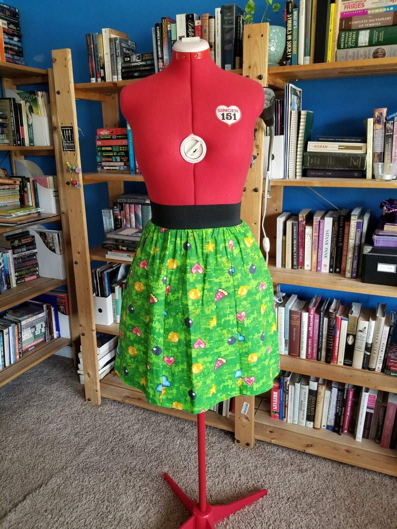8-bit Adventure Skirt with Pockets image 0
