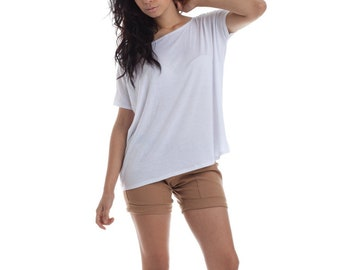 8e2c8a494ba40a Womens Shirts, White Tops, Oversized Blouse, Made in USA, Maternity tops,  oversize shirts, white tees, basic tees, basics