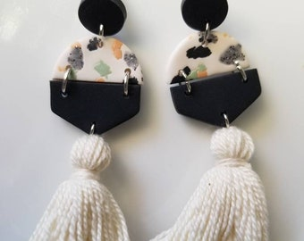 Be Loved I Polymer Clay Earrings I Womens Jewelry I Dangle Earrings I Tassle Earrings I Gifts for Her Birthday Wedding Handmade