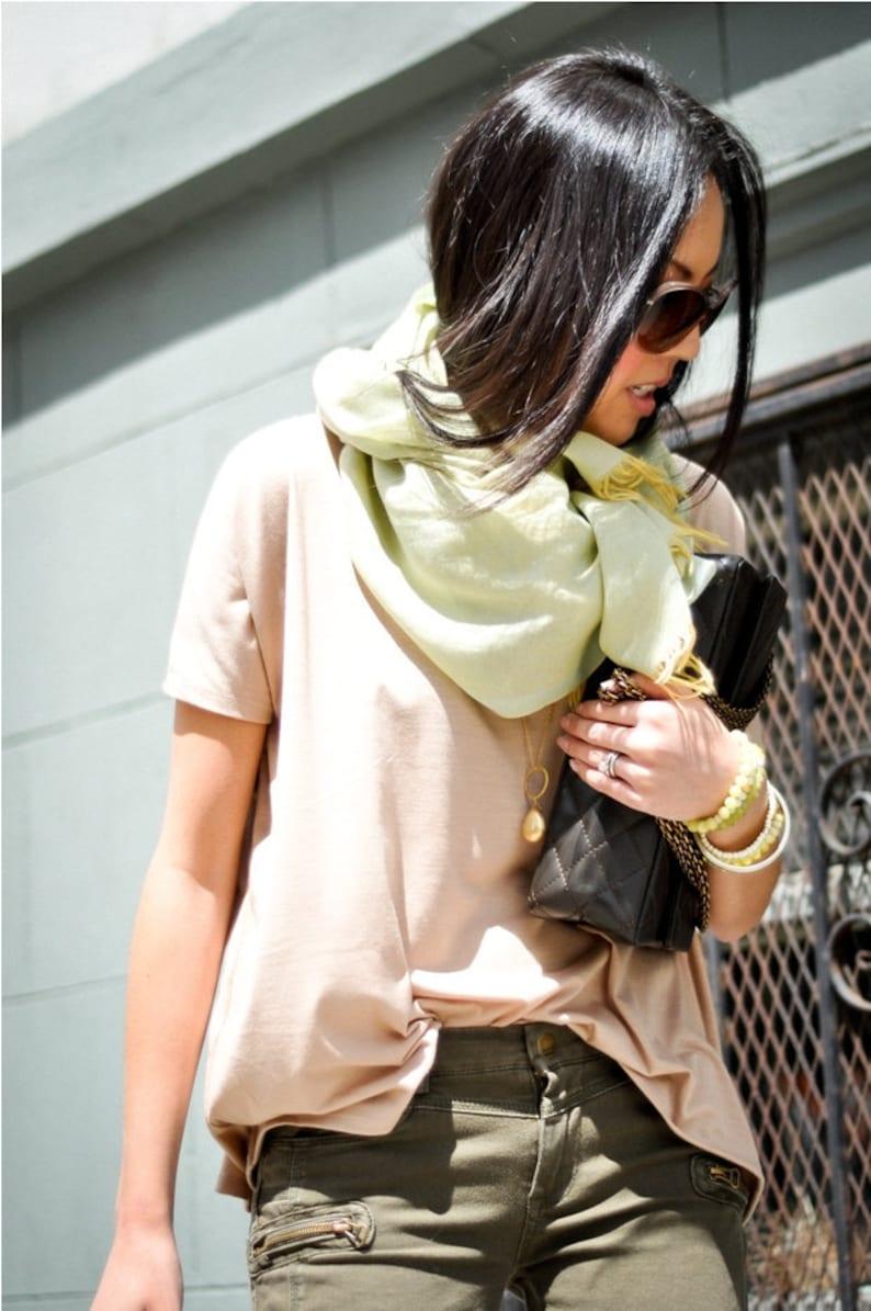 Oversized Blouse Shirt  Womens  Fashion Top Soft Blouse Boho image 0