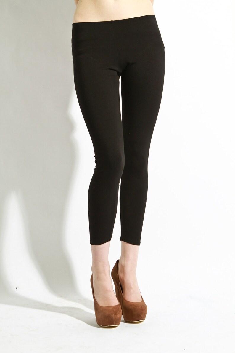Leggings Cotton Black  Premium Stretch Soft Pants  26 image 0