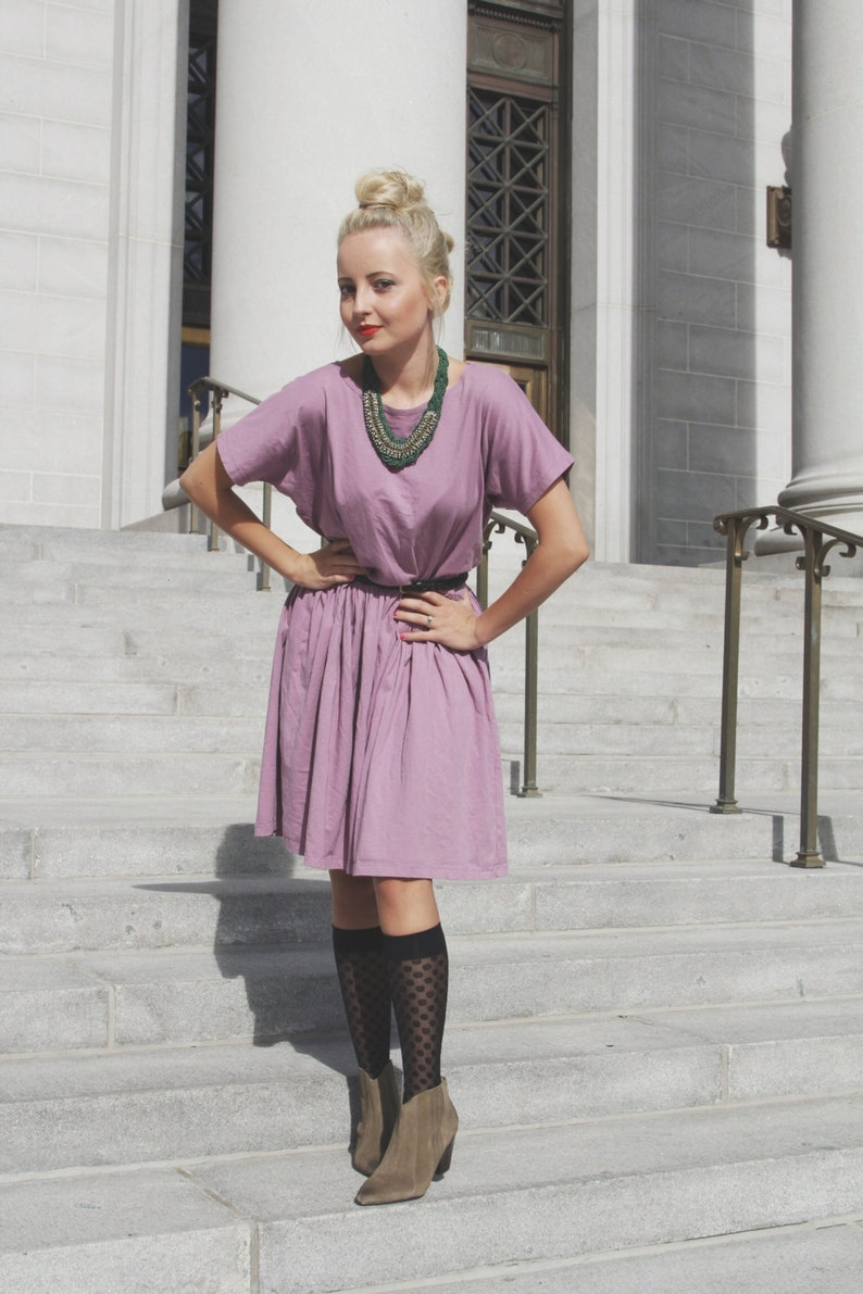 Romantic Ruffle Relaxed Fit Cotton Dress