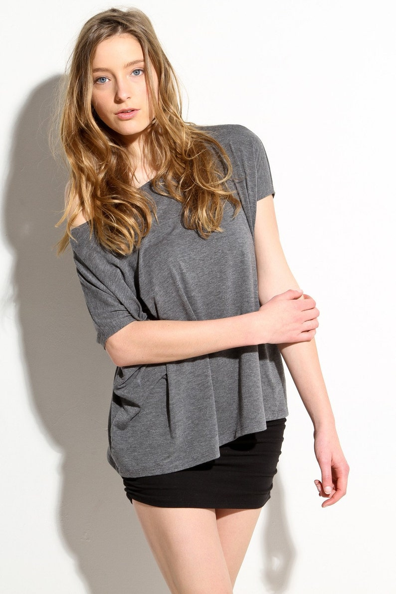 Effortless Loose T Shirt Oversize Delicately Soft Blouse image 0