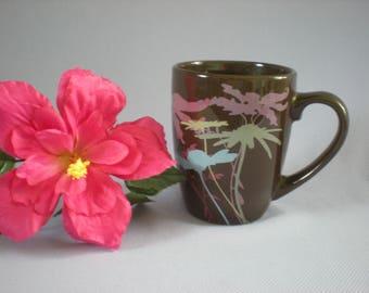 Large Coffee Mug, Big Mug, Large Tea Mug, Large Stoneware Mug, Nature Lover Gift, Coworker Gift, Vintage Kitchen