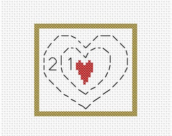 Two Sizes Too Small Christmas Counted Cross Stitch Pattern Instant Download