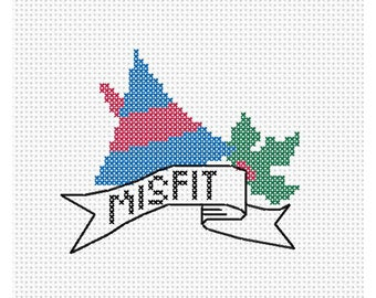 Misfit Christmas Counted Cross Stitch Pattern Instant Download